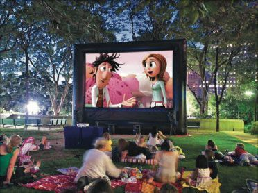 Outdoor Movie Screen and speakers for rent